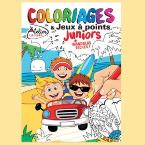 COLORIAGES ET JEUX A POINTS JUNIORS N°4