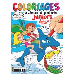 COLORIAGES ET JEUX A POINTS JUNIORS N°8