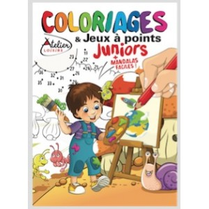 COLORIAGES ET JEUX A POINTS JUNIORS N°9