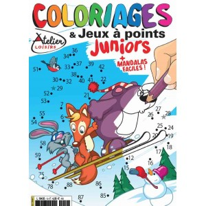 COLORIAGES ET JEUX A POINTS JUNIORS N°10