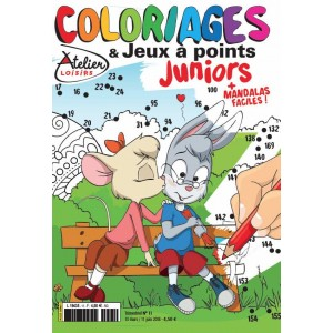 COLORIAGES ET JEUX A POINTS JUNIORS N°11