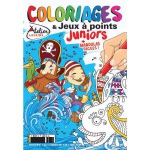COLORIAGES ET JEUX A POINTS JUNIORS N°12