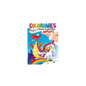 COLORIAGES ET JEUX A POINTS JUNIORS N°13