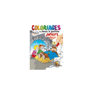 COLORIAGES ET JEUX A POINTS JUNIORS N°14