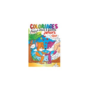 COLORIAGES ET JEUX A POINTS JUNIORS N°17