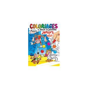 COLORIAGES ET JEUX A POINTS JUNIORS N°19