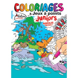 COLORIAGES ET JEUX A POINTS JUNIORS N°20